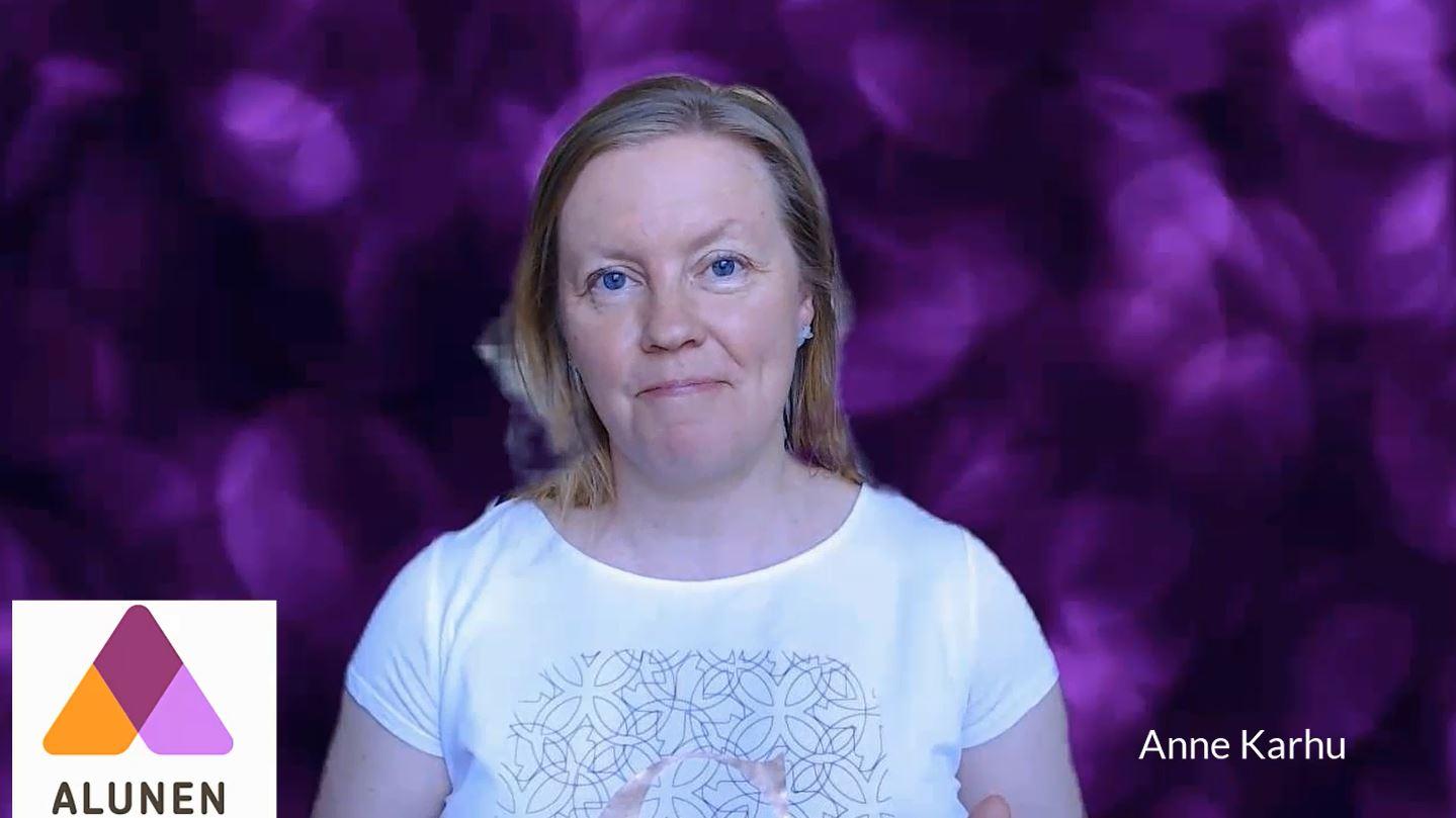 Anne Karhu on Alunen Oy:n Alusen perustaja.